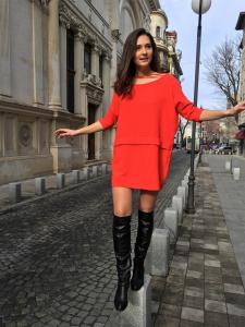 MONDAY RED DRESS