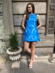 BLUE WING MINI DRESS