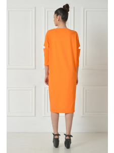 ORANGE SPLIT DRESS SHIRT