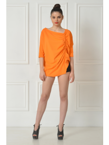 ORANGE DRAPED TSHIRT
