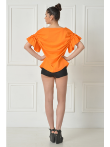RUFFLED ORANGE TSHIRT