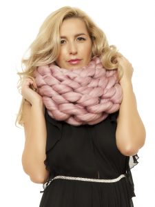 CRAZY PINK SCARF
