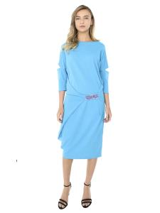 ORIGAMI BLUE DRESS